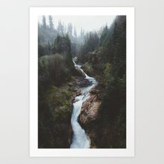 Lava Canyon Art Print