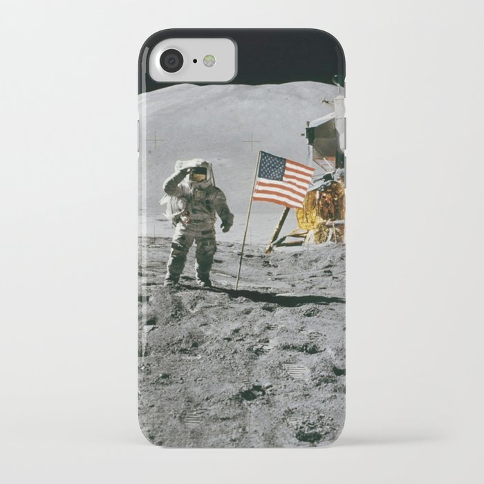 Moon Landing Nasa Astronaut With American Flag Cool