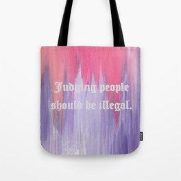 Judging People Tote Bag