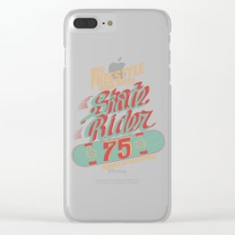 Vintage Retro New York City Skateboard Skating Gift Clear iPhone Case