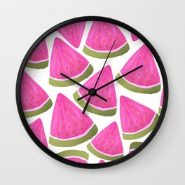 Watercolour Watermelons Wall Clock