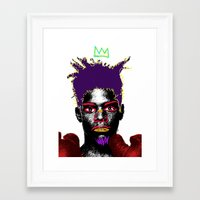 basquiat Framed Art Prints featuring Basquiat by Kibwe Maono