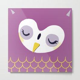 Little sleepy owl Metal Print