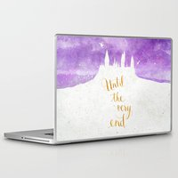 dumbledore Laptop & iPad Skins featuring Until the very end by Earthlightened