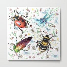 Insectopia Metal Print