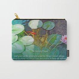 Serenity Prayer Koi Pond Lotus Carry-All Pouch