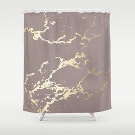Kintsugi Ceramic Gold on Red Earth Shower Curtain