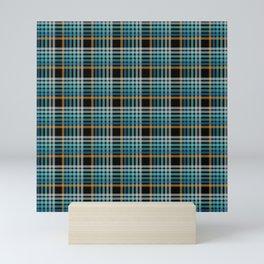 Vibrant modern Scottish lines on black Mini Art Print