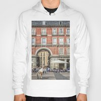 real madrid Hoodies featuring Relaxing cup, Madrid by Solar Designs