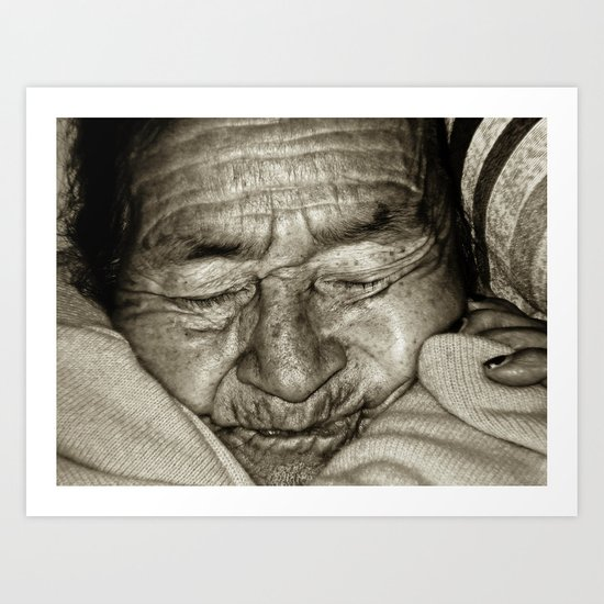 MY GRANDMOTHER Art Print