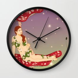 Midsummer Fairy Wall Clock