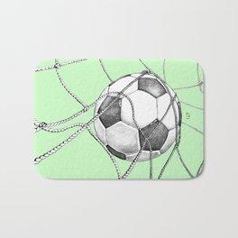 Goal in green Bath Mat