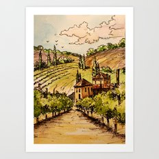 French Countryside Art Print
