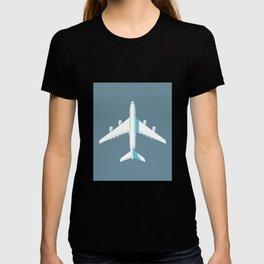 A380 Super Jumbo Jet Airliner - Slate T-shirt