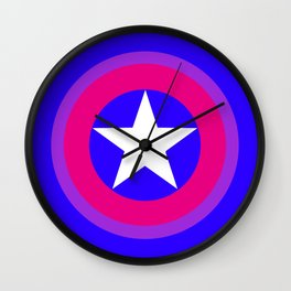 bi pride shield (no text) Wall Clock