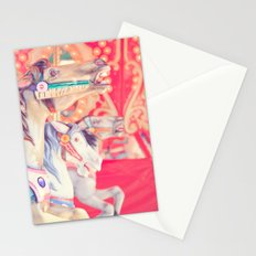 Pink Carousel Horse Stationery Cards