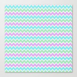 Turquoise Aqua Blue and Light Purple Lavender and Mint Green Canvas Print