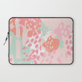 Billie - abstract gender neutral trendy painting soft colors bright happy nursery baby art Laptop Sleeve