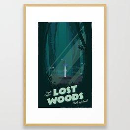 Lost Woods (Legend of Zelda) Travel Poster Framed Art Print