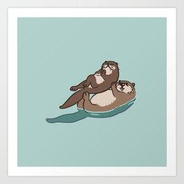 Acroyoga Otter Art Print