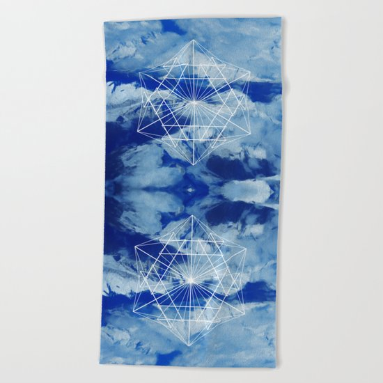 Mountains, Clouds and Geometry Beach Towel