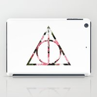 deathly hallows iPad Cases featuring The Girly & Deathly Hallows by Enyalie