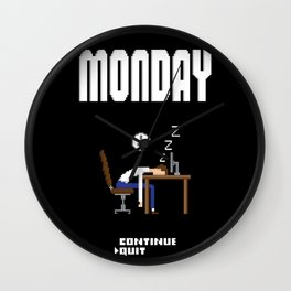 If Monday was a game Wall Clock