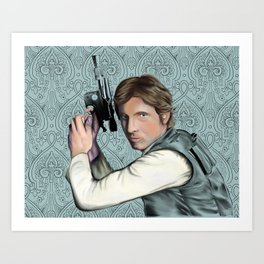 Han Solo StarWars Movie Poster Print Art Print