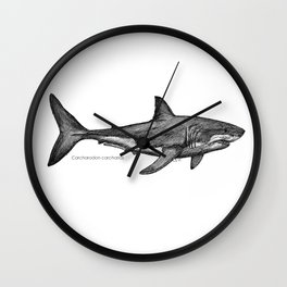 Carcharodon carcharias Wall Clock