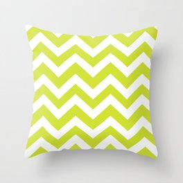 Pear - green color - Zigzag Chevron Pattern Throw Pillow