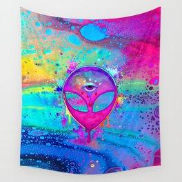 Alien Melt - pink Wall Tapestry