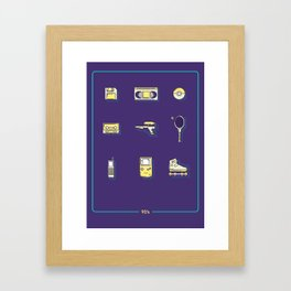 90s Stuff Framed Art Print