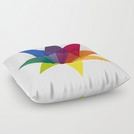 Rainbow Star Floor Pillow