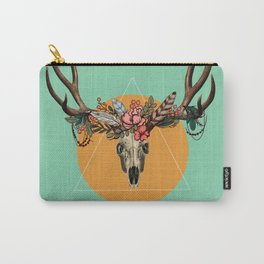 Flower skull 3 Carry-All Pouch