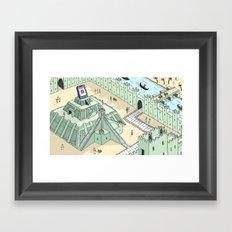Phone Worship Framed Art Print