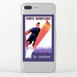 White Mountains in Winter Clear iPhone Case