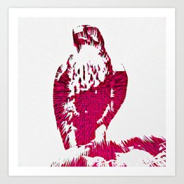 Extruded Falcon Art Print