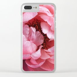 peony bloom Clear iPhone Case