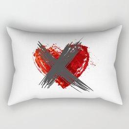 Anti Valentine's Day - Crossed Heart Rectangular Pillow