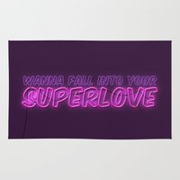 charli xcx Area & Throw Rugs featuring SuperLove / Charli XCX by Justified