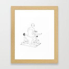 Comfortable? Framed Art Print