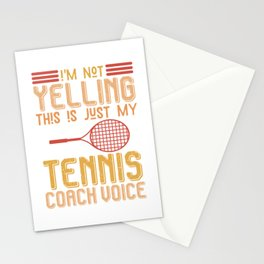 Tennis Coach Voice Stationery Cards