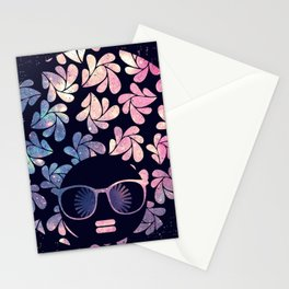 Afro Diva Mauve Teal Galaxy Stationery Cards