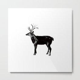 Reindeer Repeat Metal Print