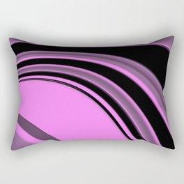 Pink and Black Slick Rectangular Pillow