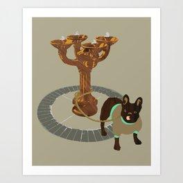 Benson Bubbler + Gladys Art Print