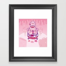 Jelly bear Framed Art Print