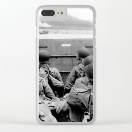 Approaching Omaha Beach - Invasion of Normandy - June 6, 1944 Clear iPhone Case