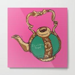 Little Teapot Metal Print