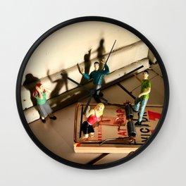 Infestation of Lilliputians Wall Clock